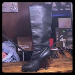 Glamorous Bally pebbled leather knee boots 8